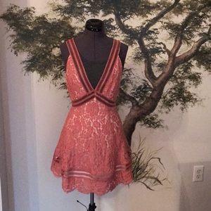 Keepsake Label Floral Lace Swing Dress Size Small